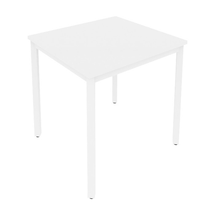 Стол письменный на металлокаркасе Riva Slim С.СП-2 белый/белый металл 78x72x75