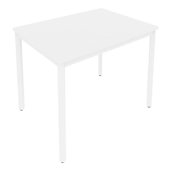 Стол письменный на металлокаркасе Riva Slim С.СП-3 белый/белый металл 98x72x75