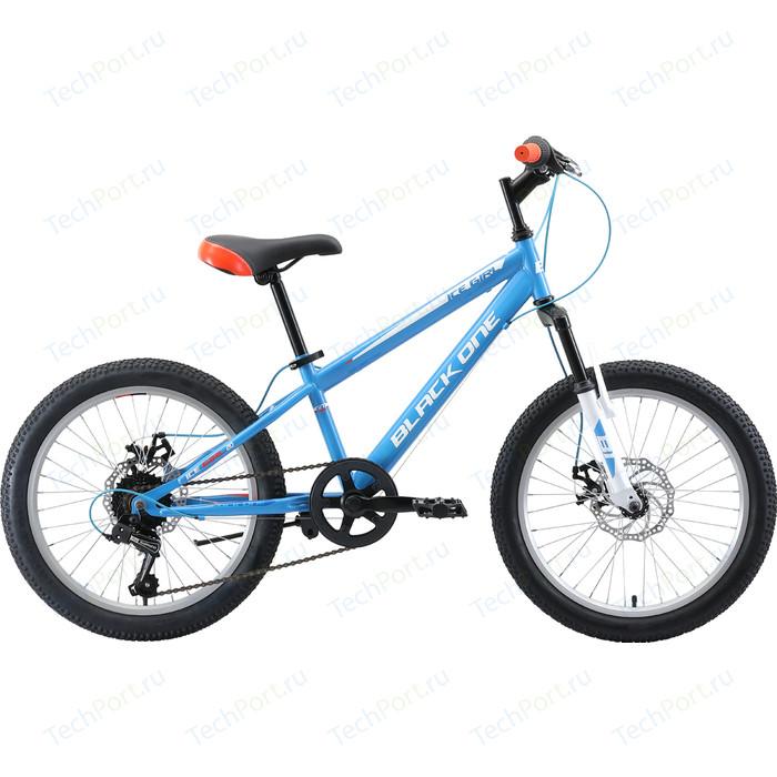 Велосипед Black One Ice Girl 20 D (2019) голубой/белый/оранжевый