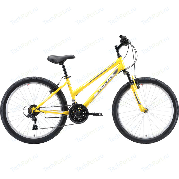 Велосипед Black One Ice Girl 24 (2019) жёлтый/белый/серый