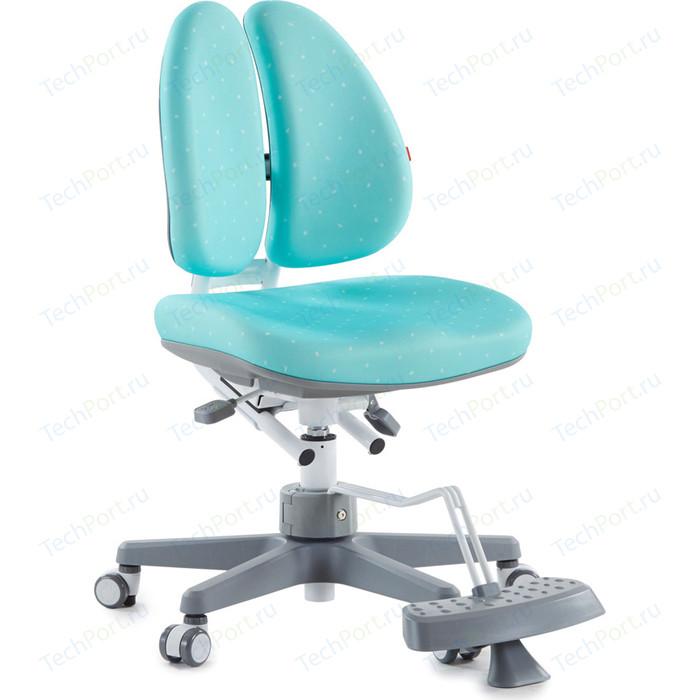 Кресло TCT Nanotec Duoback chair с двойной спинкой и подставкой для ног бирюзовое
