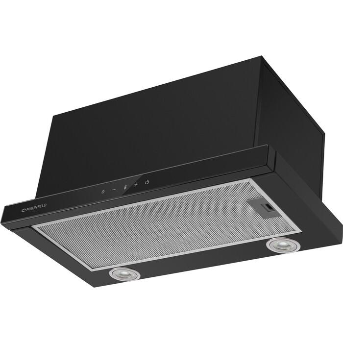 Встраиваемая вытяжка MAUNFELD TS Touch 50 Glass Black встраиваемая вытяжка maunfeld ts touch 50 glass white