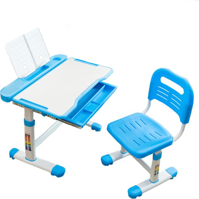 Комплект парта + стул трансформеры FunDesk Vanda blue cubby