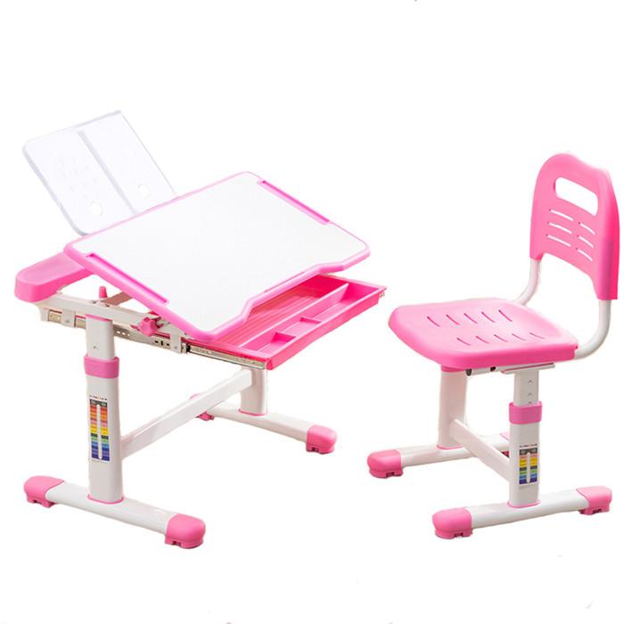 Комплект парта + стул трансформеры FunDesk Vanda pink cubby