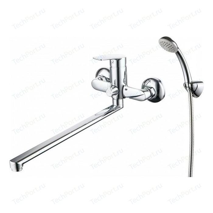 Смеситель для ванны Milardo Horizont с длинным изливом и душем, хром (HORSB02M10)