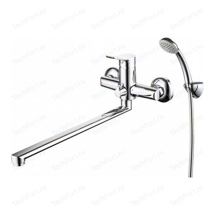 Смеситель для ванны Milardo Amplex с длинным изливом и душем, хром (AMPSB02M10)