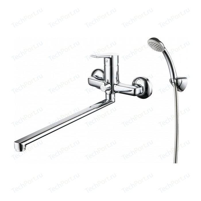 Смеситель для ванны Milardo Stripe с длинным изливом и душем, хром (STRSB02M10)