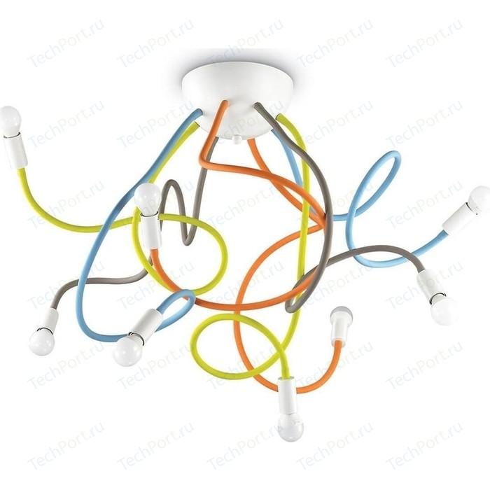 Потолочная люстра Ideal Lux Multiflex PL8 Color