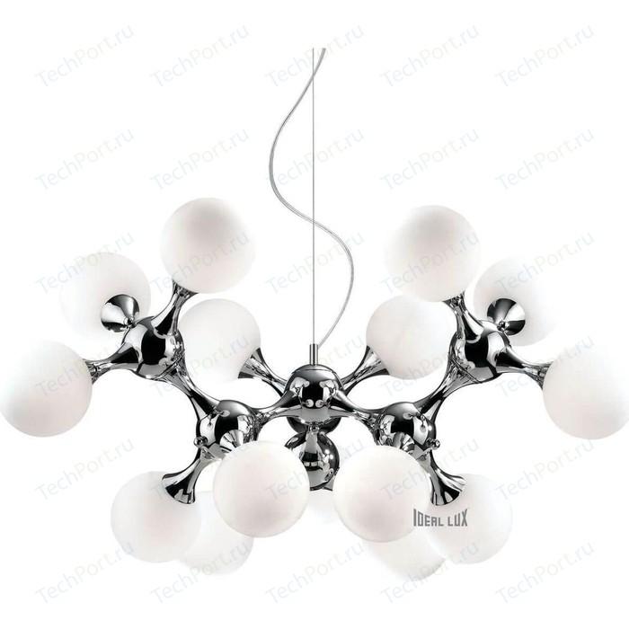 Подвесная люстра Ideal Lux Nodi Bianco SP15 бра ideal lux nodi ap5 cromo nodi