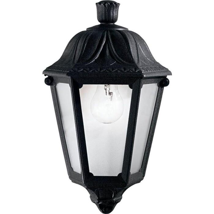 Уличный настенный светильник Ideal Lux Anna AP1 Small Nero