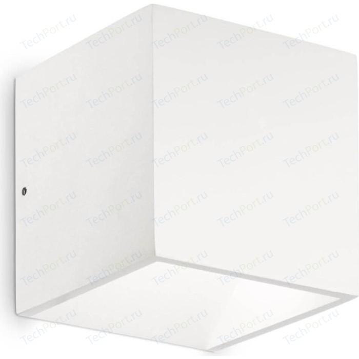 Уличный настенный светодиодный светильник Ideal Lux Rubik AP1 Bianco