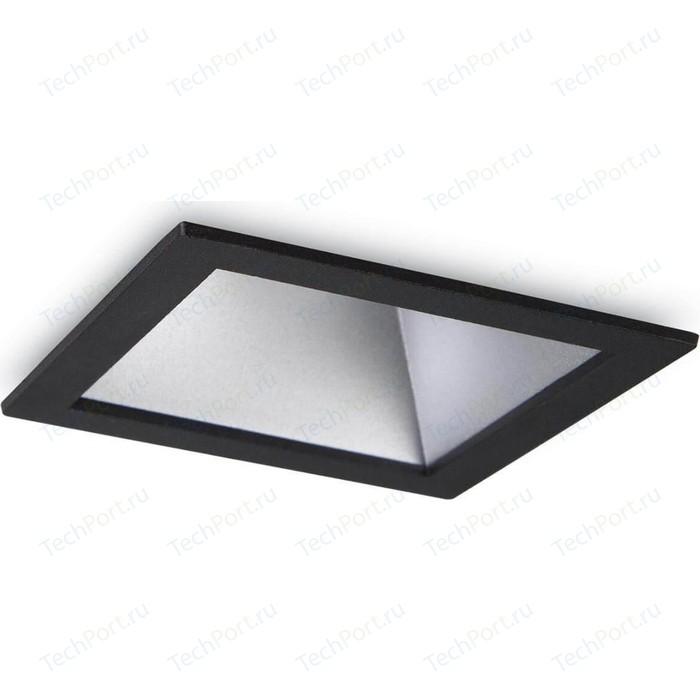 Встраиваемый светодиодный светильник Ideal Lux Game Square Black Silver