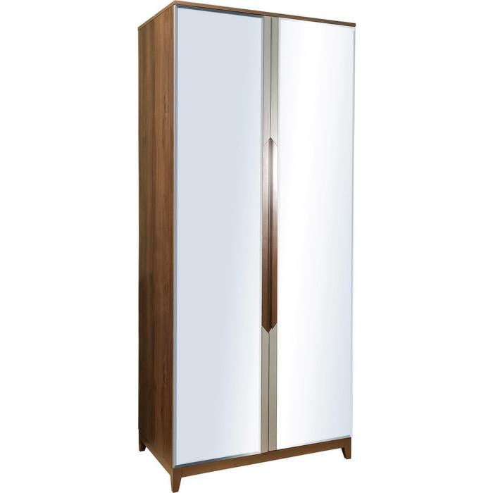 Фото - Шкаф 2-дверный R-home Сканди грей с зеркалами r home тв бокс сканди грей