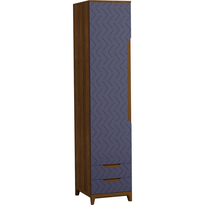 Шкаф универсальный R-home Сканди сапфир с ящиками