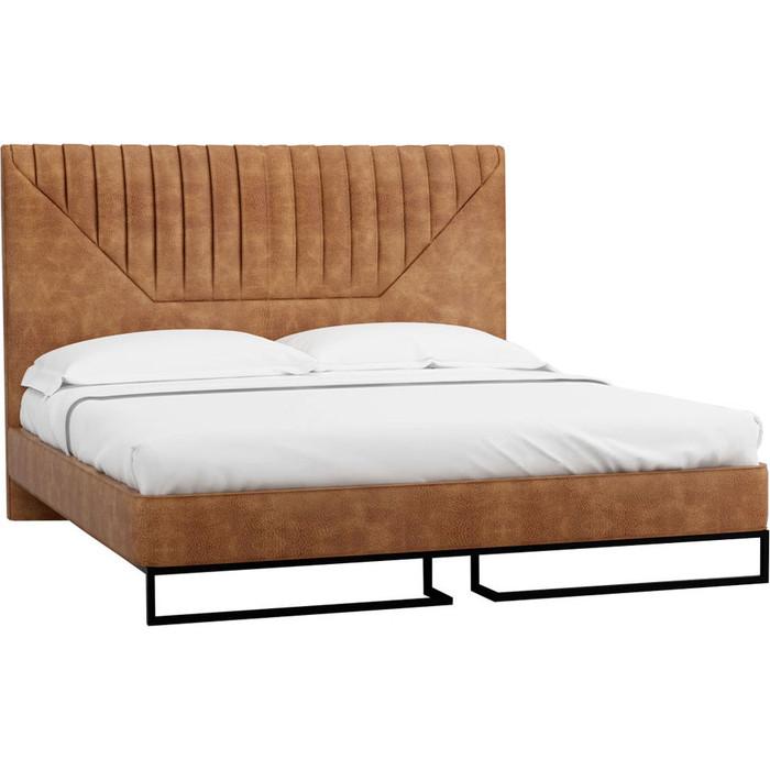 Кровать R-home Loft Alberta браун 1.6