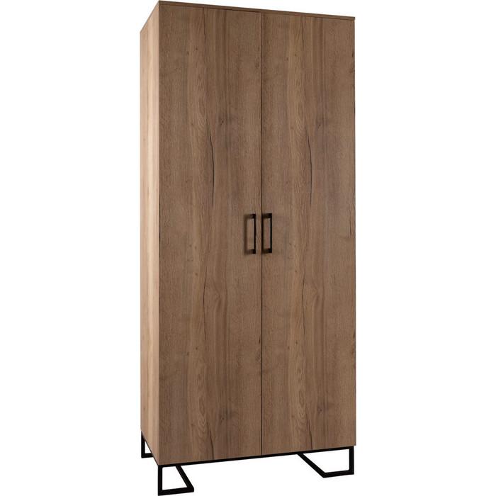 Шкаф 2-дверный R-home Loft дуб табак