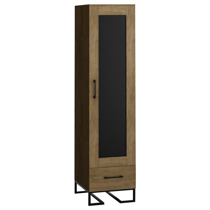 R-home Шкаф-витрина Loft дуб табак продукты напитки табак