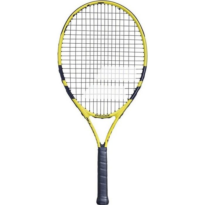 Ракетка для большого тенниса Babolat Nadal 25 Gr0, 140249, детская, 9-10 лет, черно-желтый ракетка для большого тенниса babolat b fly 23 gr000 140244 детская 7 9 лет фиолет бирюзовый