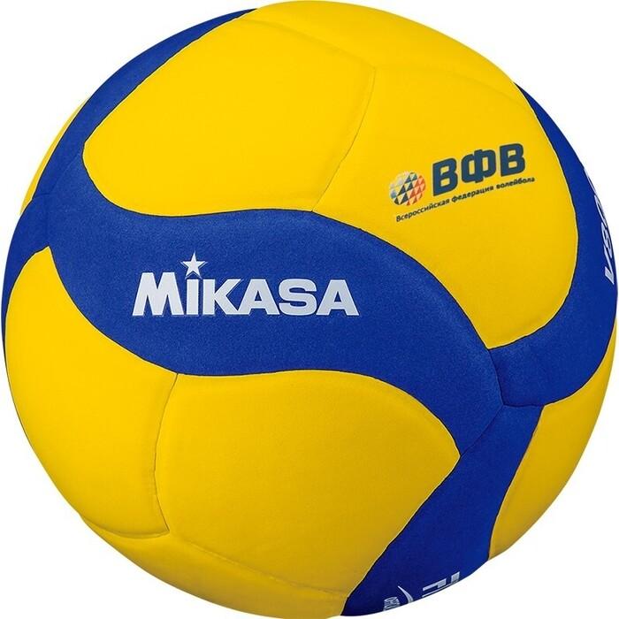 Мяч волейбольный Mikasa V800 W, р. 5,желто-синий мяч волейбольный wilson wth10320xb р 5