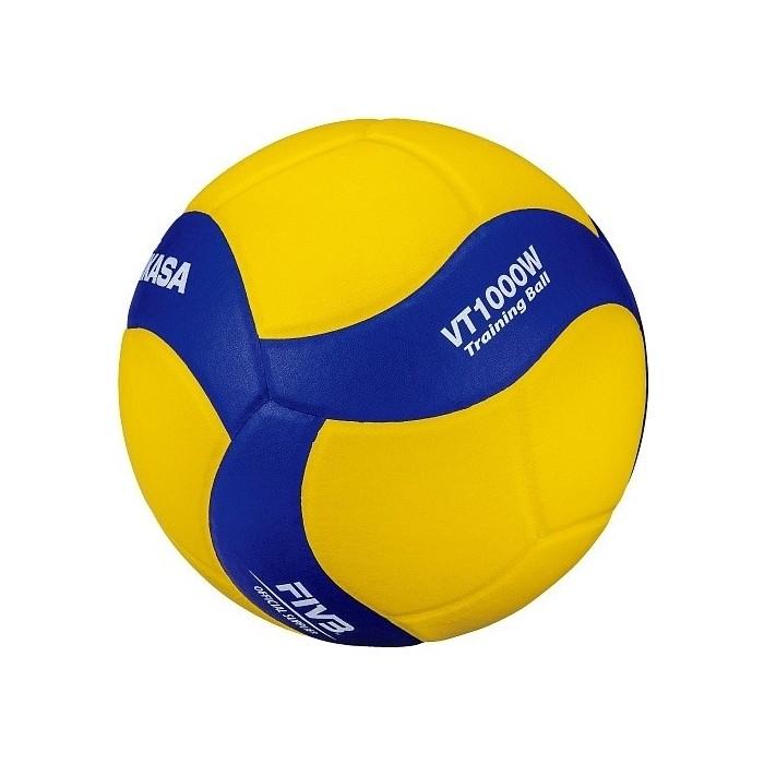 Мяч волейбольный Mikasa VT1000W, р.5, сине-желтый