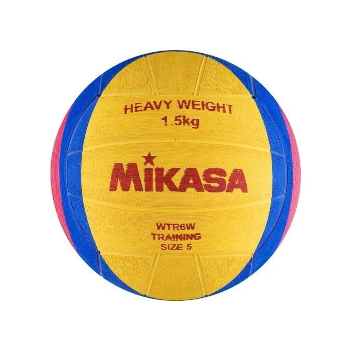 Мяч для водного поло Mikasa WTR6W (длина. окр. мяча 68-71 см), вес 1500 г, жел-син-роз