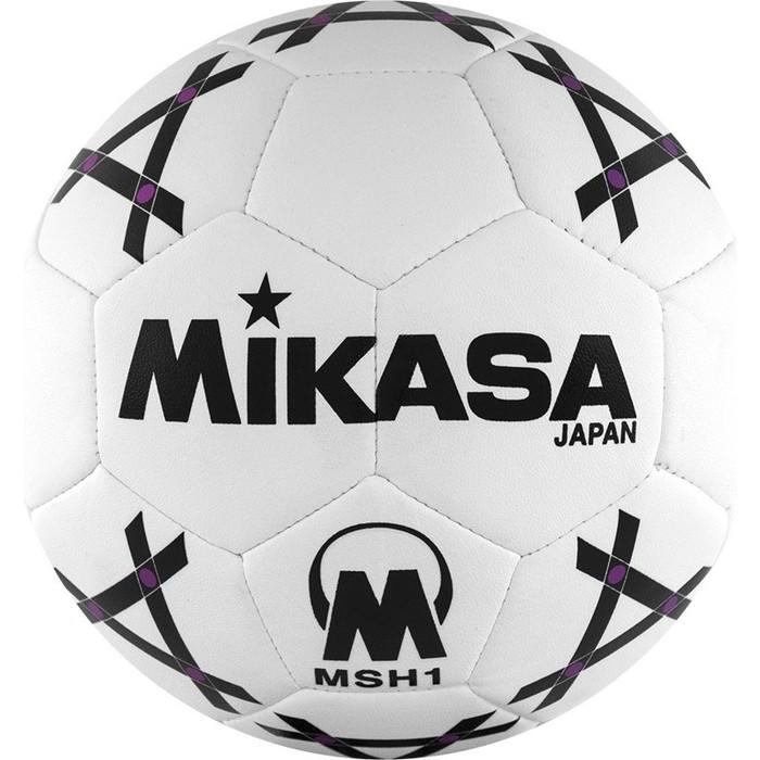 Мяч гандбольный Mikasa MSH 1, синт.кожа, р. 1, бело-черно-фиолетовый цена 2017