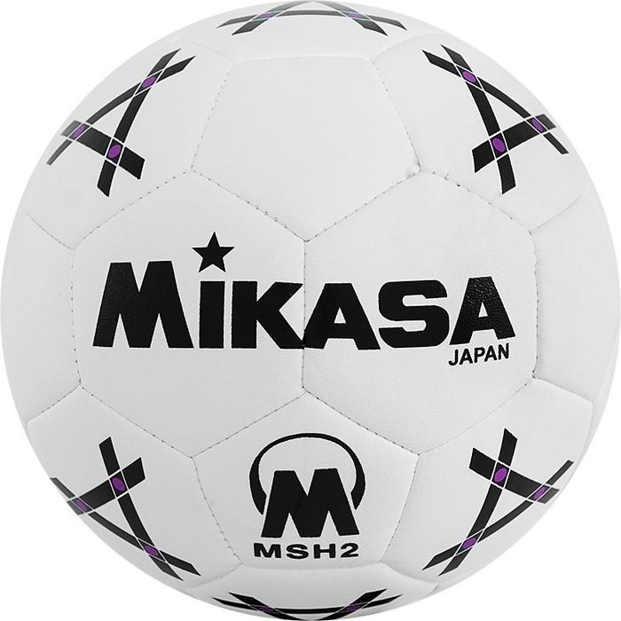 Мяч гандбольный Mikasa MSH 2, синт.кожа, р.2, бело-черно-фиолетовый цена 2017