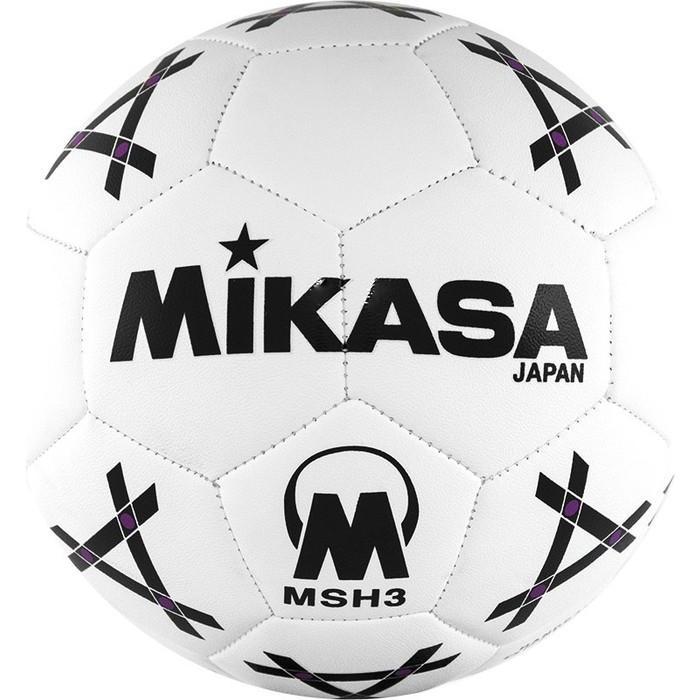 Мяч гандбольный Mikasa MSH 3, синт.кожа, р.3, бело-черно-фиолетовый цена 2017
