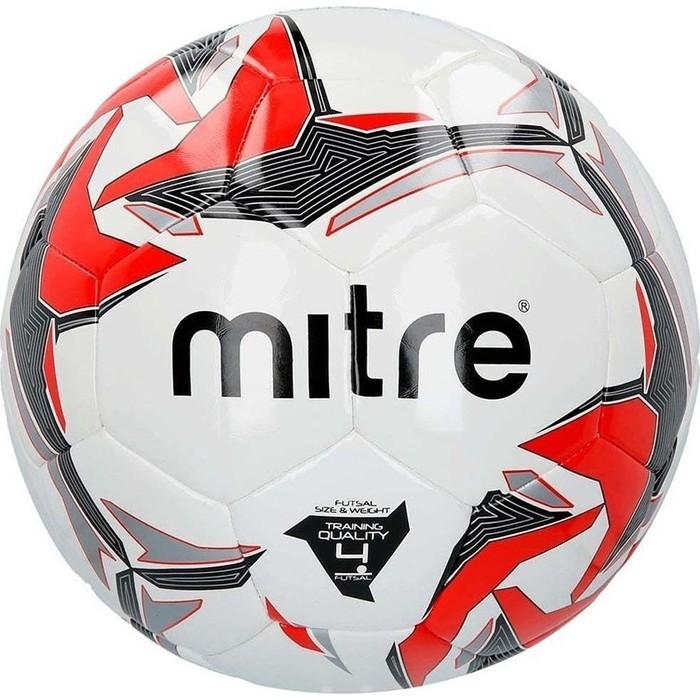 Мяч футзальный Mitre Futsal Tempest II BB9302WYI, р.4, бел-крас-чер-серебро