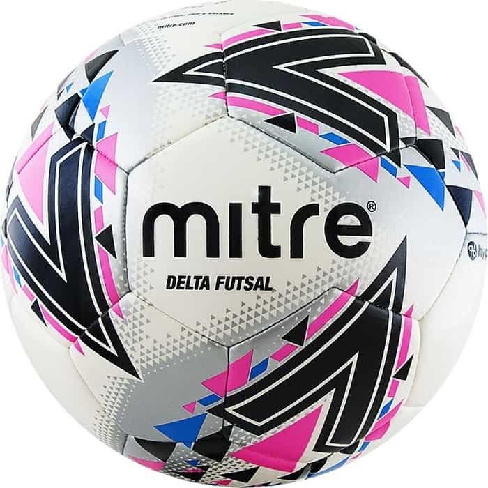 Мяч футзальный Mitre Futsal Delta FIFA PRO HP A0028WWB, р.4,бел-чер-розовый