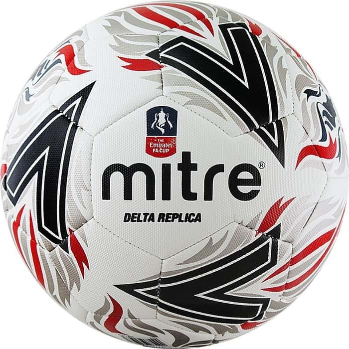 Мяч футбольный Mitre Delta Replica AA0017WD6, р.5, бело-красно-черный
