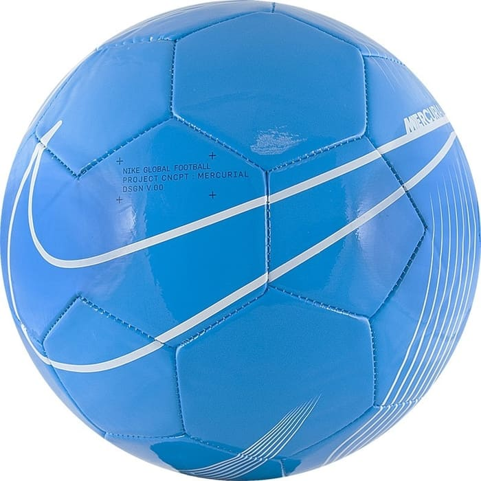 Мяч футбольный Nike Mercurial Fade SC3913-486, р.4, бело-голубой недорого