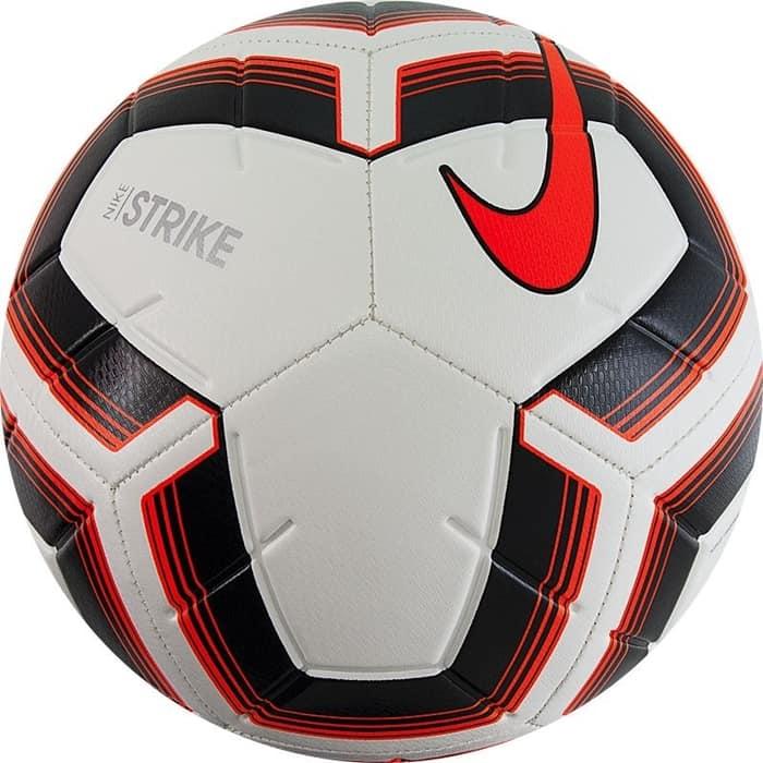 Мяч футбольный Nike Strike Team SC3535-101, р. 5, бело-оранжево-черный