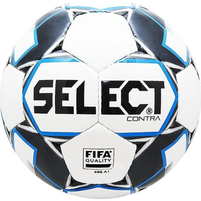 цена Мяч футбольный Select Contra FIFA 812317-102, бело-чер-син онлайн в 2017 году