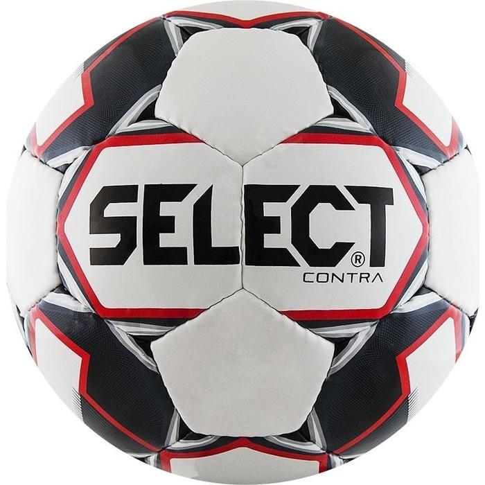 цена Мяч футбольный Select Contra 812310-103, р.4, бело-черно-красный онлайн в 2017 году