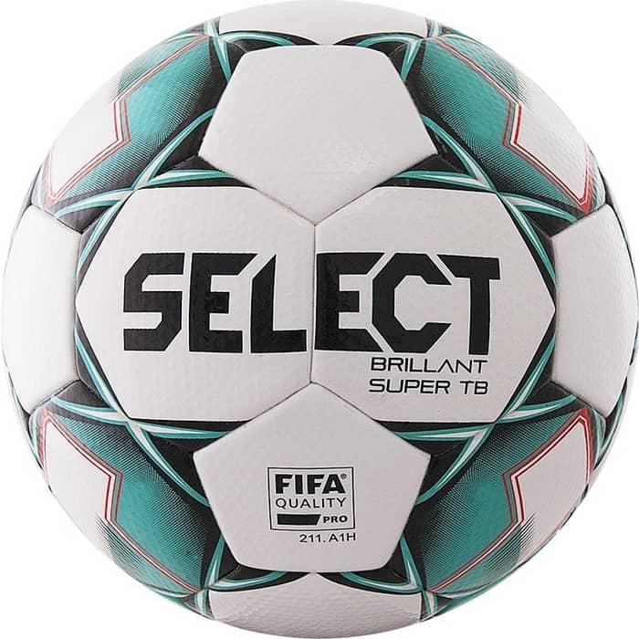 цена Мяч футбольный Select Brillant Super FIFA TB 810316-004, р.5, бело-зелено-черный онлайн в 2017 году