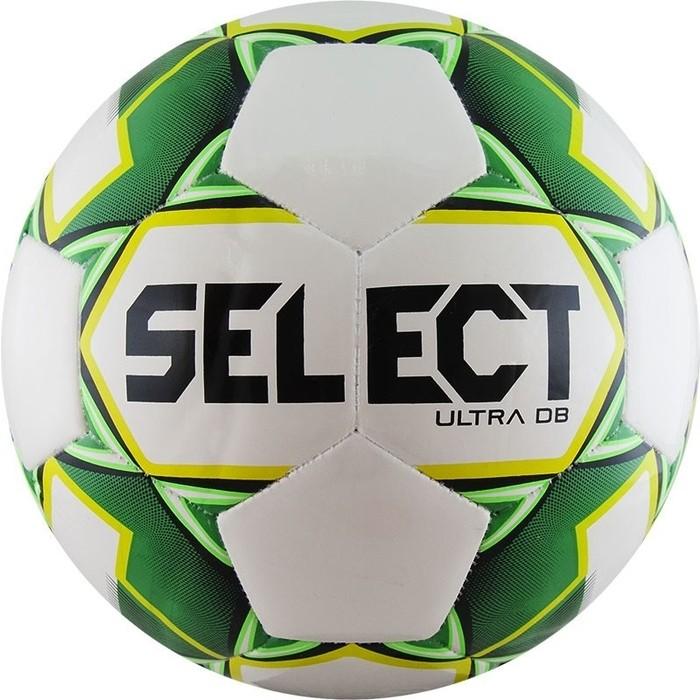 цена Мяч футбольный Select ULTRA DB 810218-004, р.5, бело-зел-желто-черный онлайн в 2017 году