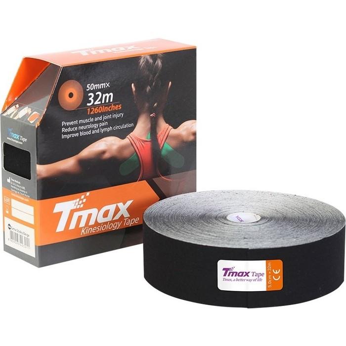 Тейп кинезиологический Tmax 32m Extra Sticky Black (5 см x 32 м), 423242, черный
