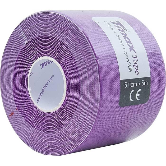 Тейп кинезиологический Tmax Extra Sticky Lavender (5 см x 5 м), 423198, фиолетовый