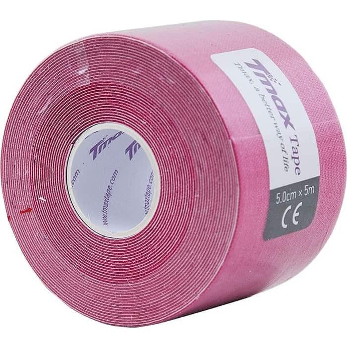 Тейп кинезиологический Tmax Extra Sticky Pink (5 см x 5 м), 423136, розовый