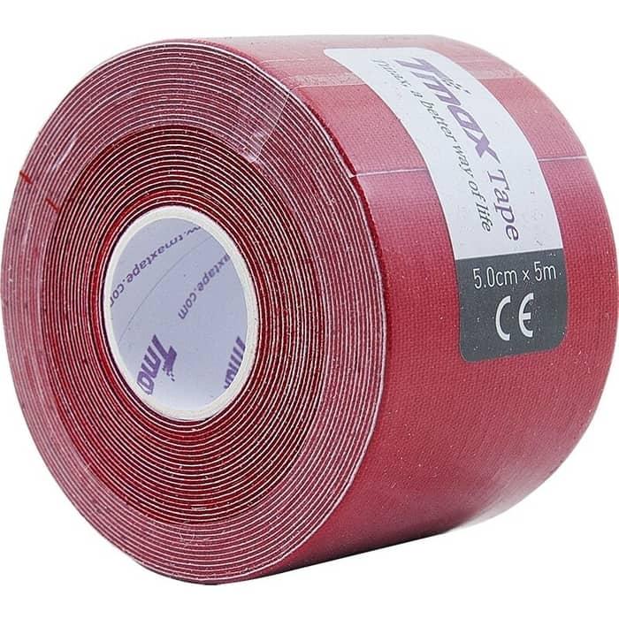 Тейп кинезиологический Tmax Extra Sticky Red (5 см x 5 м), 423150, красный