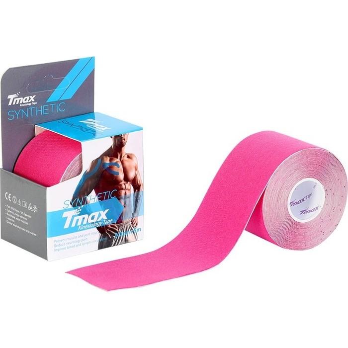 Тейп кинезиологический Tmax Synthetic Pink (5 см x 5 м), 423334, розовый