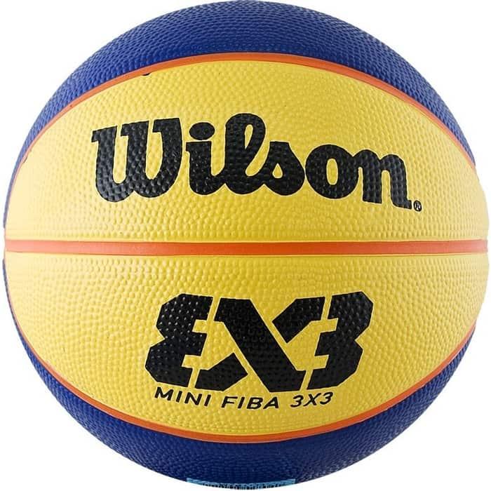 Мяч баскетбольный Wilson FIBA3x3 Replica Mini, р.3 (размер для стритбола),сине-желтый