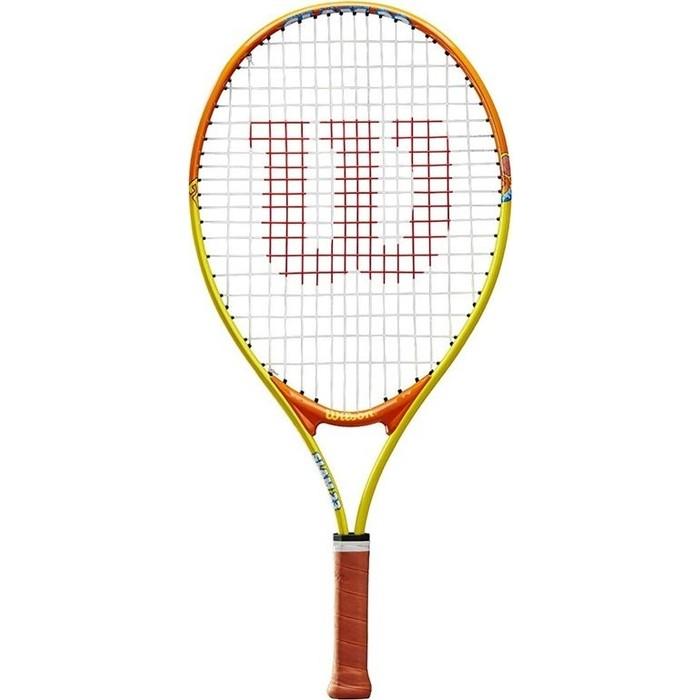 Ракетка для большого тенниса Wilson SLAM 23, WRT20390U, 7-8 лет, желто-оранжевая