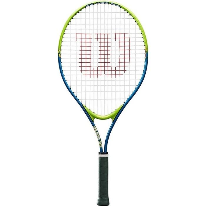 Ракетка для большого тенниса Wilson SLAM 25, WRT20400U, 7-8 лет, салатово-синяя