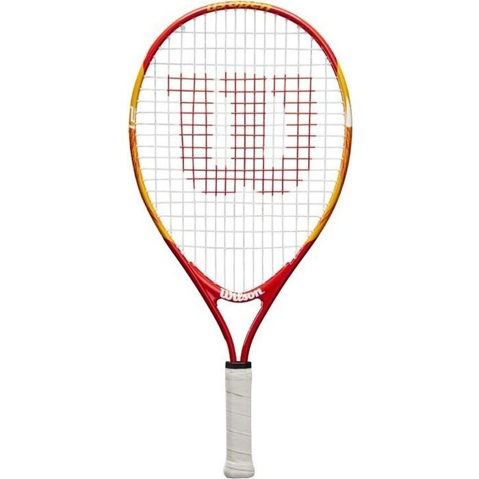 Ракетка для большого тенниса Wilson US OPEN 21, WRT20310U, 5-6 лет, оранжево-красный