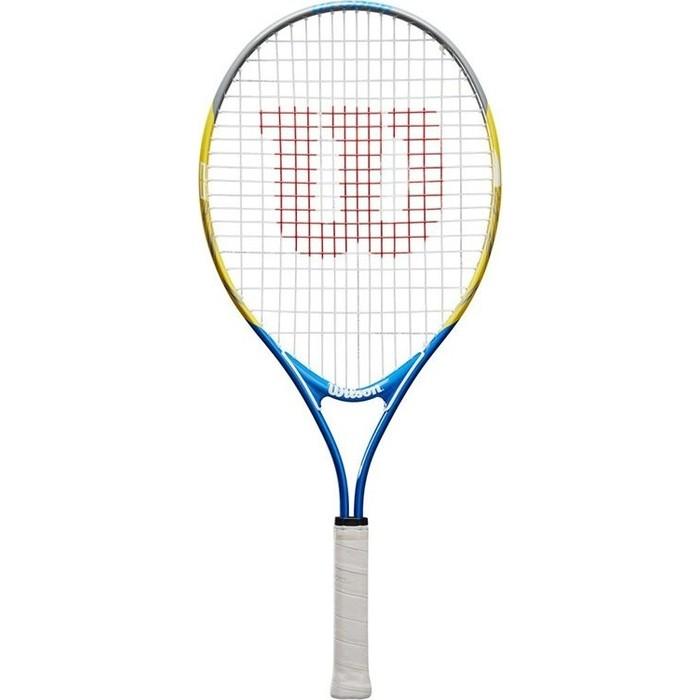 Ракетка для большого тенниса Wilson US OPEN 25, WRT20330U, 9-10 лет, желто-сине-черный