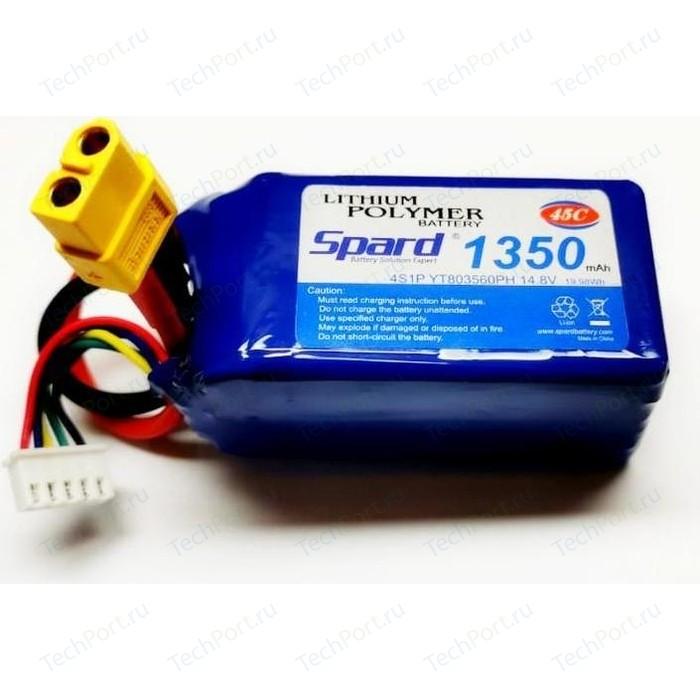 Аккумулятор Spard Li-Po 1350mAh, 14,8V, 45C, XT60 - YTA005