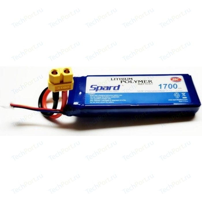 Аккумулятор Spard Li-Po 11.1V 1700mAh, 25C, XT60 - YT81303