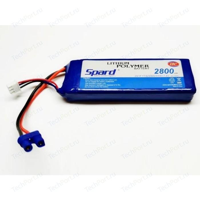 Аккумулятор Spard Li-Po 7.4V 2800mAh 15C, EC2 - YT823496HHHH аккумулятор team orion li po 11 1в 3s 50c 3500мач